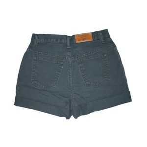 Faded Glory Shorts - Vintage Gray High Waisted Rise Cuffed Shorts 25/26